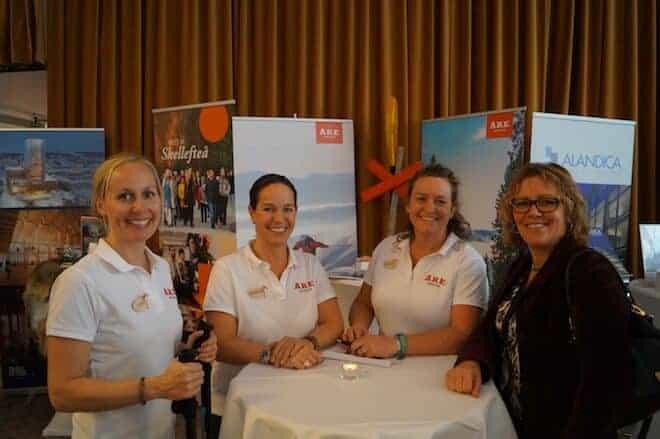 Från vänster; Tove Rhodin, Martina Kulenius samt Josefin Almkvist från destination Åre. De berättade om att Åre är en året runt destination.