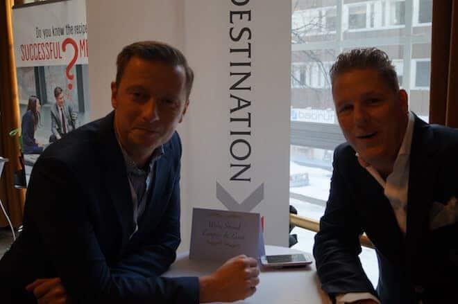 Carl-Johan Stålhammar med kollega från Wisby Strand var på plats.