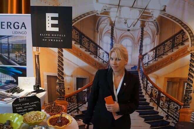 Marie Lundqvist ifrån Elite Hotels berättade om storsatsningen i Uppsala som öppnar 2017.
