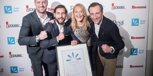 de vinner priset som Årets brand experience byrå