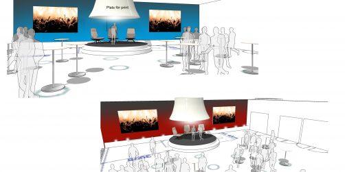 eventeffect på plats under möten & events