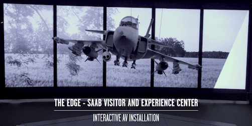inspiration från adapt: the edge – saab visitor & experience center