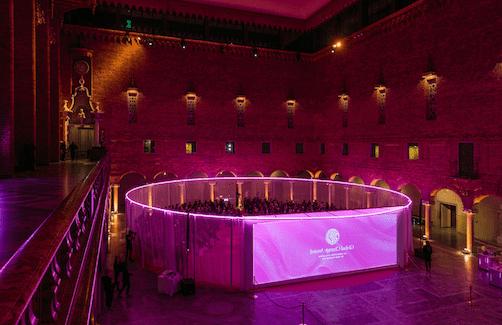 Prisceremoni Stockholms stadshus