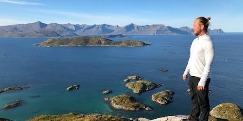 Kalle Rudehill från Life Event på företagsresa med klienter på Tromsö