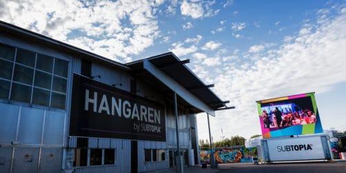 subtopias hangar: en flexibel arena för galor, mässor och konserter