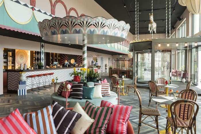 4. hotell lobby Göteborgs nya eventarena spänner musklerna inför hösten