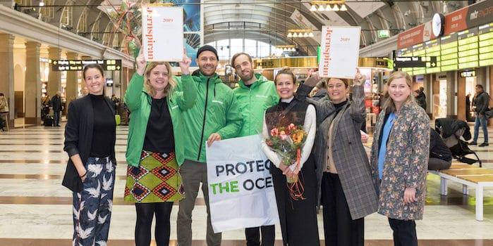 pressbild greenpeace sverige för unhcr vinnare jernspiran 2019 Greenpeace vinner Jernspiran