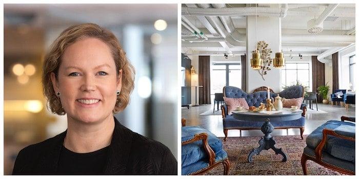 Anna Sjölin har startat konferensanläggningen Sjölinskans i Nacka i Stockholm.