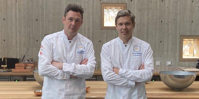Tom Sjöstedt, tävlingsledare och Tommy Myllymäki, juryordförande för Årets Kock 2020