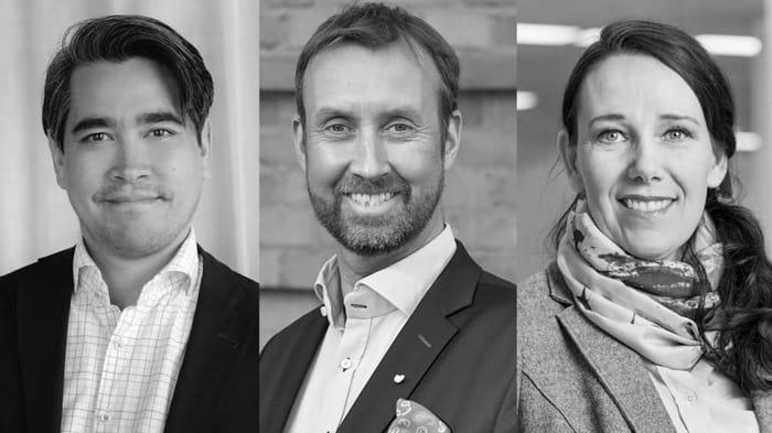 thomas jakobsson chefsekonom visita johan trouvé vd västsvenska handelskammaren och annika winsth chefsekonom nordea
