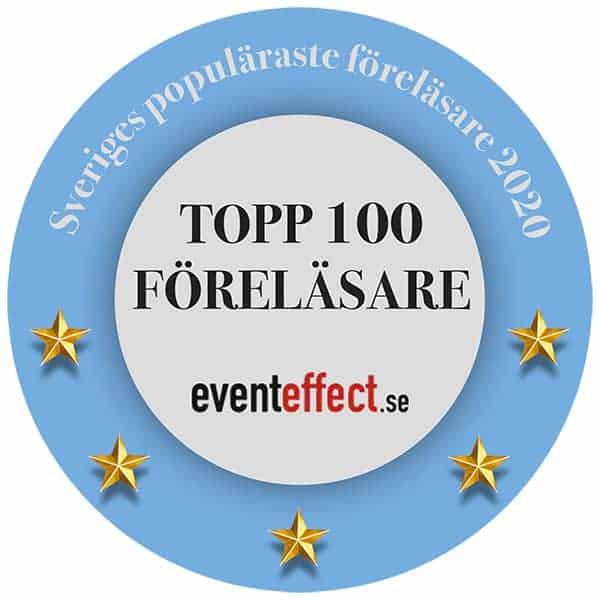 topp100 sveriges populäraste föreläsare och moderatorer 2020 eventeffect