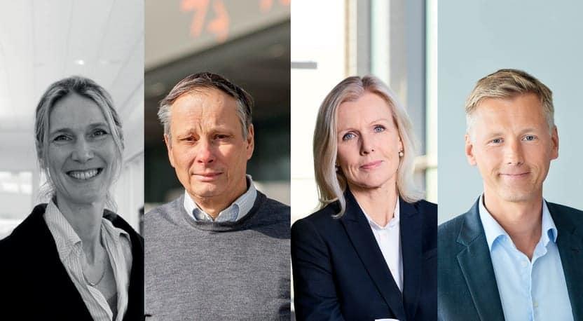Lotta Frenssen vd Elmia, Christian Clemens vd Stockholmsmässan, Carin Kindbom vd och koncernchef Svenska Mässan Gothia Towers och Joachim Warnberg vd Easyfairs Nordic.
