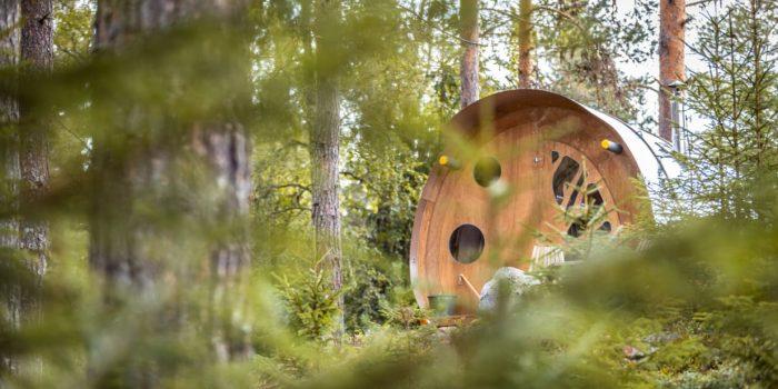 """""""Oddis öga"""" är en av två häftiga kojor hos Näsets Marcusgård i Furudal. Foto: Näsets Marcusgård"""