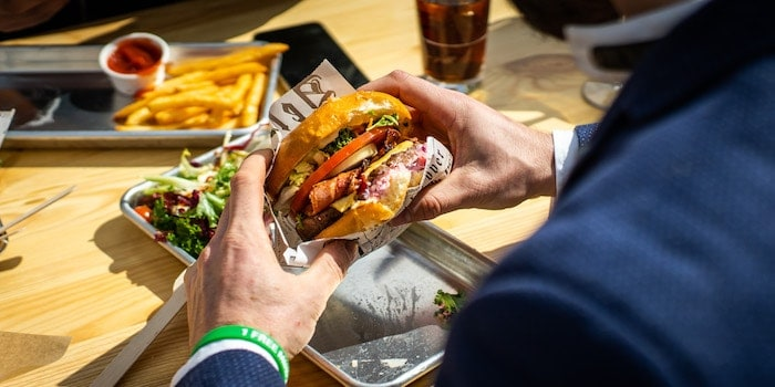 Burger in the hand