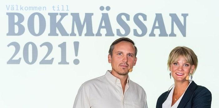 Oskar Ekström, programchef, och Frida Edman, ansvarig Bokmässan. / Foto: Pelle T Nilsson