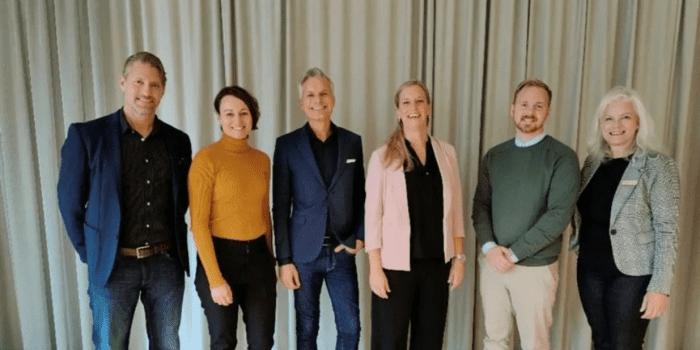 Den nya styrelsen för SNED: Mats Schöld (Malmö Stad), Caroline Törnblad (Destination Jönköping), Patrick Tengwall (Visit Stockholm), Anniela Forsell (Göteborg & Co), Mattias Pettersson (Visit Blekinge) & Birgit Öhlund (Luleå Business Region).